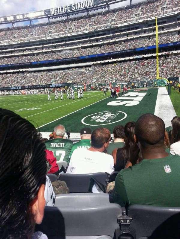 MetLife Stadium, secção: 133, fila: 6, lugar: 9