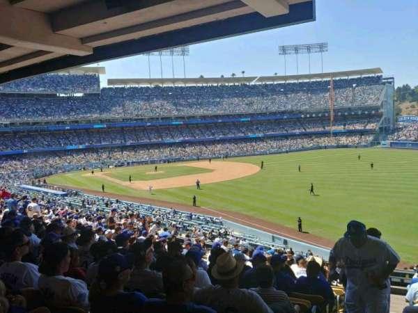 Dodger Stadium, secção: 162LG, fila: S, lugar: 1