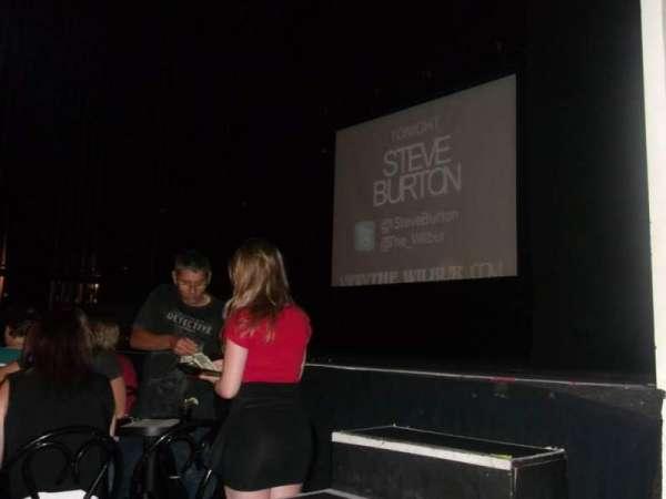 Wilbur Theatre, secção: A, fila: 1, lugar: 1