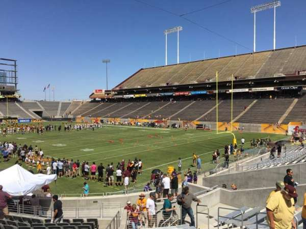 Sun Devil Stadium, secção: 45, fila: 25, lugar: 9