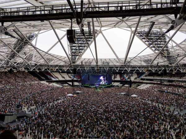 London Stadium, secção: 249, fila: 58, lugar: 21