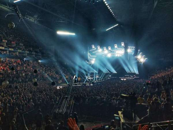 The O2 Arena, secção: 108, fila: J, lugar: 253