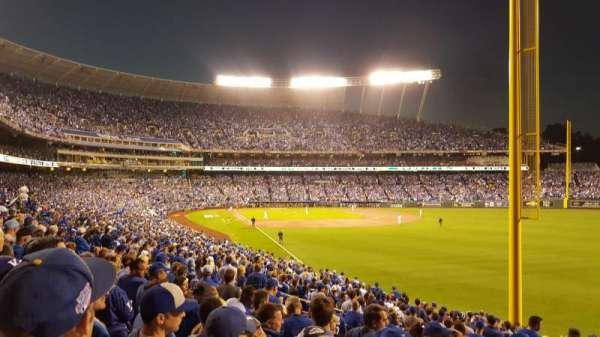 Kauffman Stadium, secção: 247, fila: GG, lugar: 26