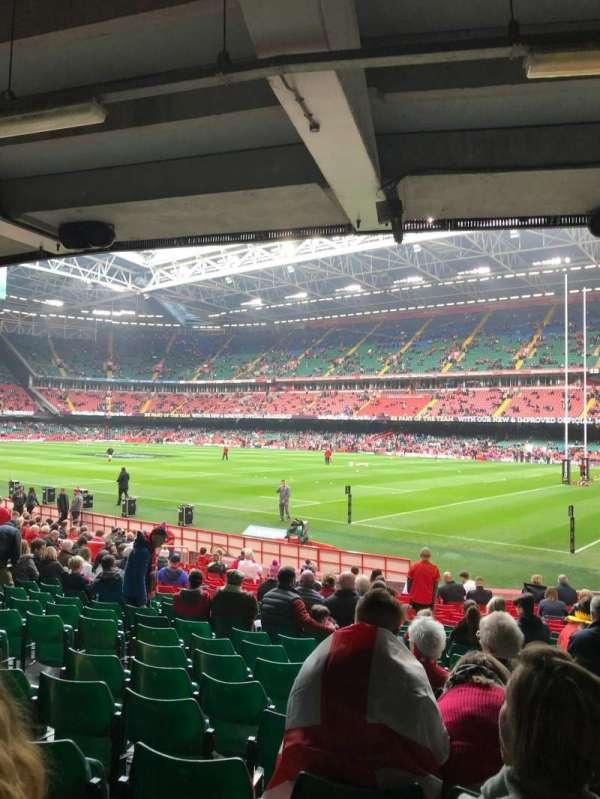 Principality Stadium, secção: L25, fila: 21, lugar: 6