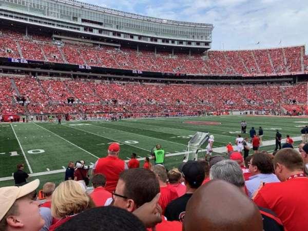 Ohio Stadium, secção: 26AA, fila: 7, lugar: 11