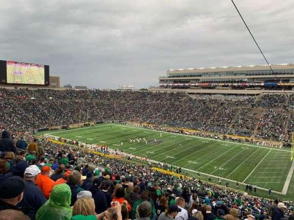 Notre Dame Stadium, secção: 107, fila: 25, lugar: 9