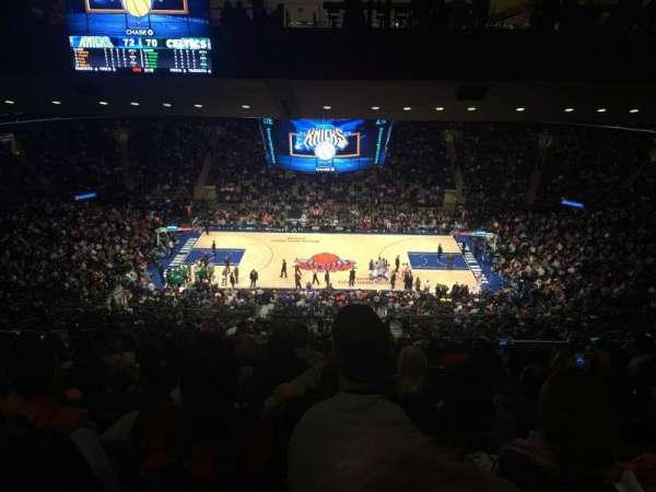 Madison Square Garden, secção: 211, fila: 20, lugar: 16