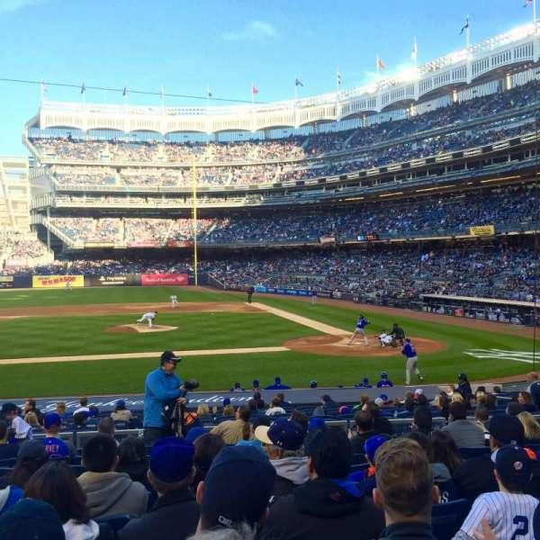 Yankee Stadium, secção: 123, fila: 21, lugar: 7