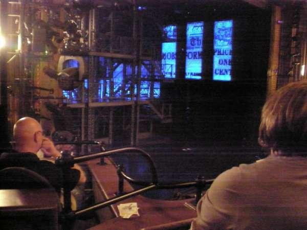 Nederlander Theatre, secção: Left Mezzanine, fila: CC, lugar: 29