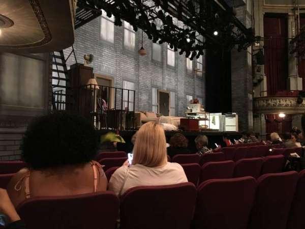 Broadhurst Theatre, secção: Orchestra L, fila: F, lugar: 17
