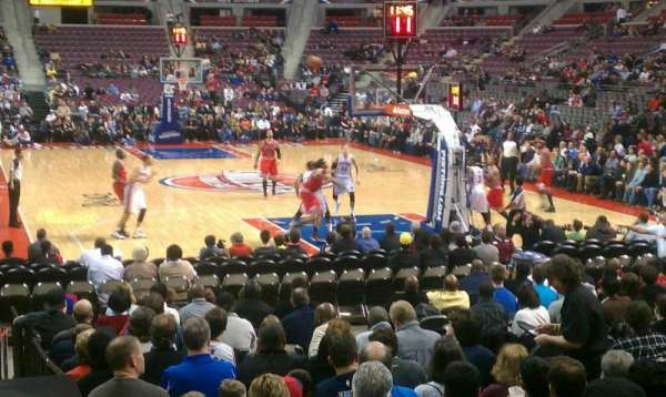 The Palace of Auburn Hills, secção: 108, fila: D, lugar: 7