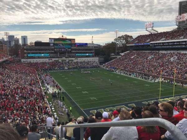 Bobby Dodd Stadium, secção: 219, fila: 15, lugar: 12