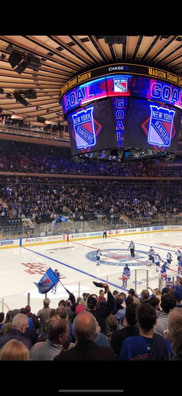 Madison Square Garden, secção: 105, fila: 15, lugar: 10