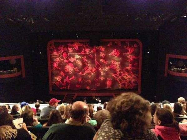 Minskoff Theatre, secção: Mezzanine, fila: G, lugar: 128