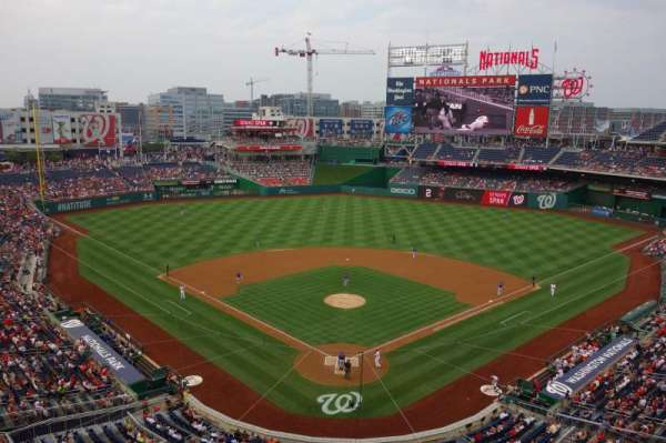 Nationals Park, secção: 314, fila: A, lugar: 18