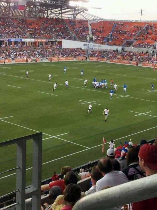 BBVA Stadium, secção: 230, fila: f, lugar: 1