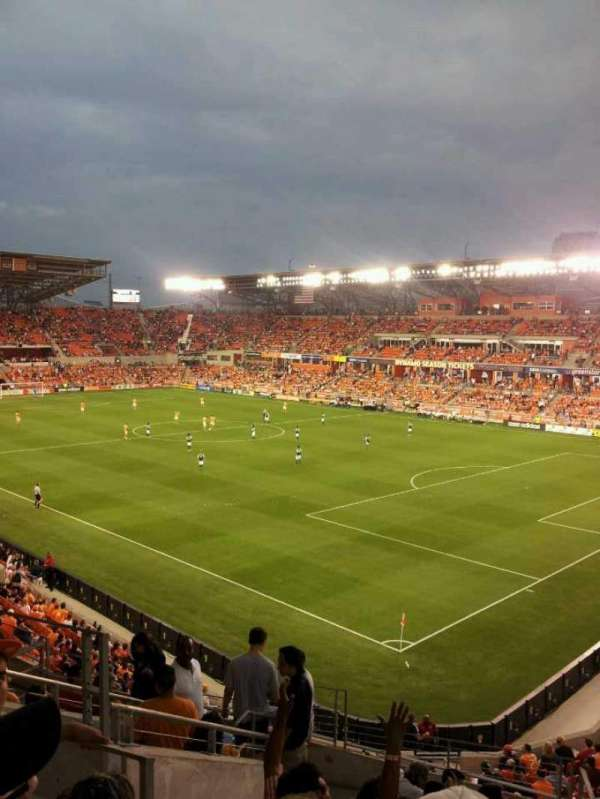 BBVA Stadium, secção: 220, fila: d, lugar: 4