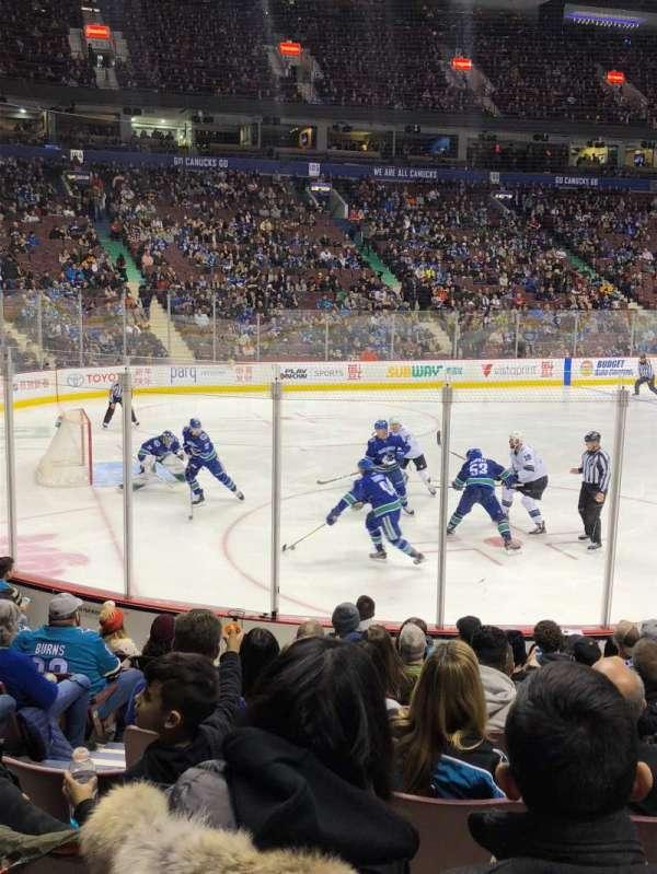 Rogers Arena, secção: 120, fila: 11, lugar: 4
