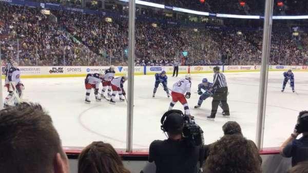 Rogers Arena, secção: 109, fila: 4, lugar: 104