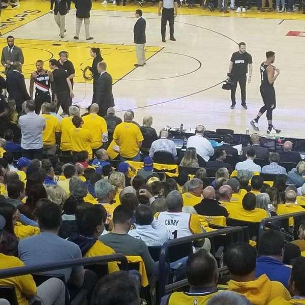 Oakland Arena, secção: 128, fila: 12, lugar: 12