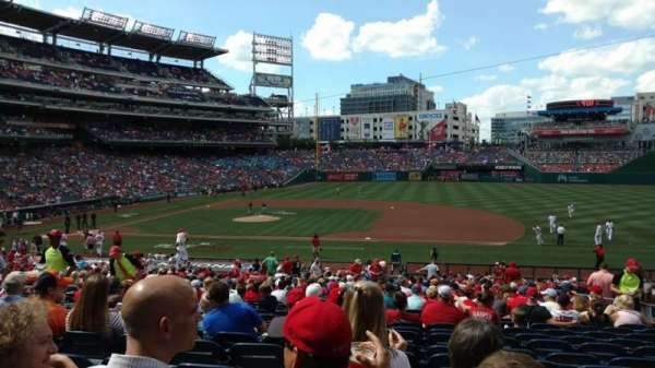 Nationals Park, secção: 130, fila: MM, lugar: 10