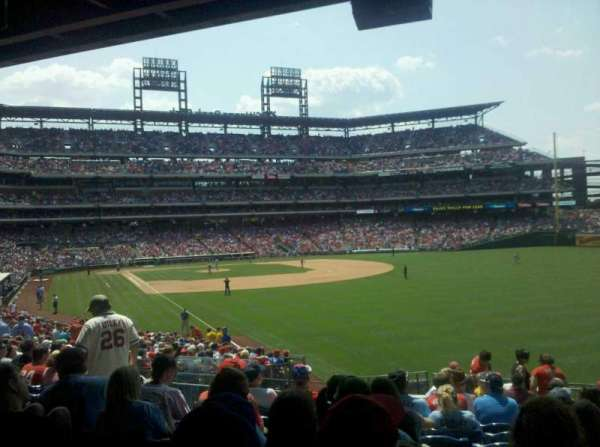 Citizens Bank Park, secção: 107, fila: 17, lugar: 21