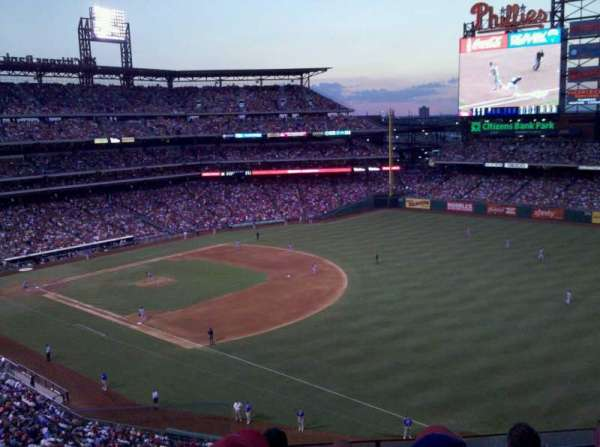 Citizens Bank Park, secção: 309, fila: 5, lugar: 24