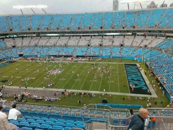 Bank of America Stadium, secção: 539, fila: 19, lugar: 3