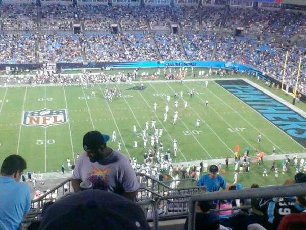 Bank of America Stadium, secção: 542, fila: 11, lugar: 1