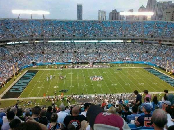 Bank of America Stadium, secção: 543, fila: 20, lugar: 13