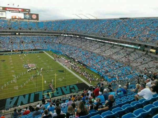 Bank of America Stadium, secção: 502, fila: 15, lugar: 21
