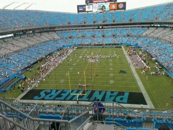 Bank of America Stadium, secção: 527, fila: 6, lugar: 21