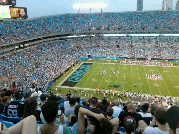 Bank of America Stadium, secção: 543, fila: 12, lugar: 11