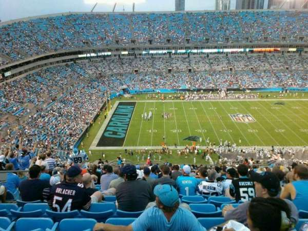 Bank of America Stadium, secção: 544, fila: 24, lugar: 18