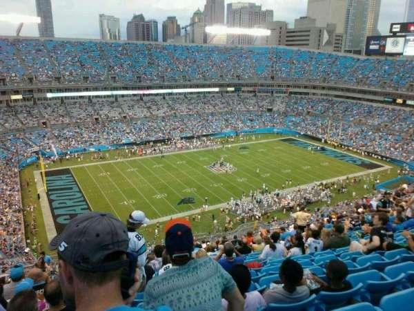 Bank of America Stadium, secção: 546, fila: 23, lugar: 19