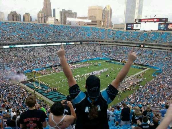 Bank of America Stadium, secção: 550, fila: 19, lugar: 20