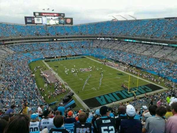 Bank of America Stadium, secção: 505, fila: 18, lugar: 25