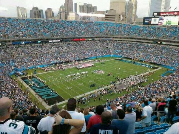 Bank of America Stadium, secção: 548, fila: 21, lugar: 12