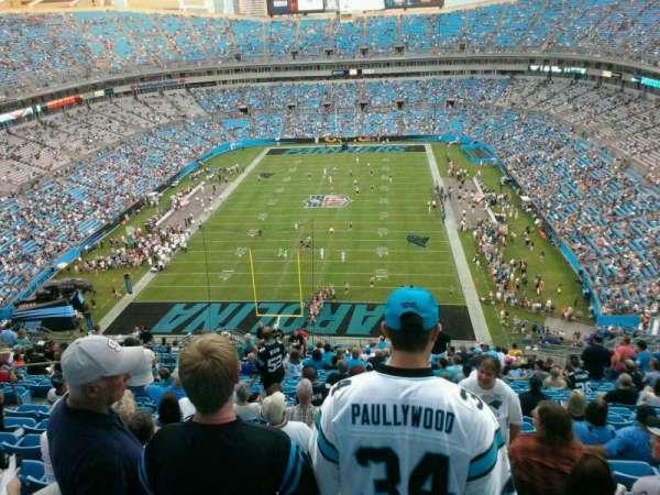 Bank of America Stadium, secção: 500, fila: 16, lugar: 21