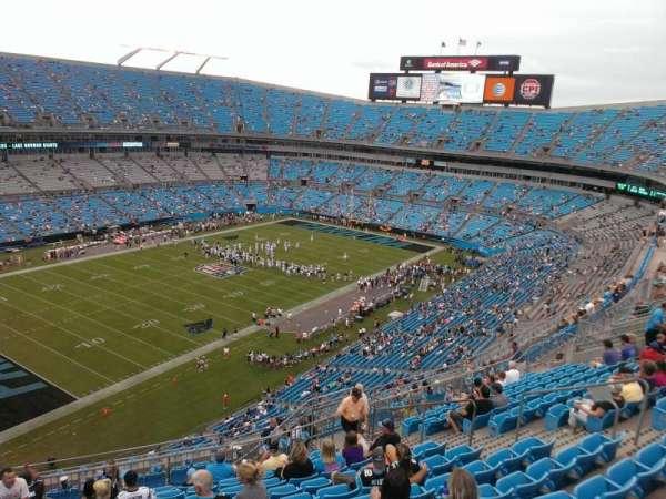 Bank of America Stadium, secção: 521, fila: 12, lugar: 13