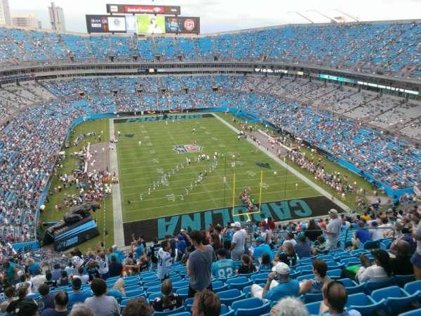 Bank of America Stadium, secção: 503, fila: 21, lugar: 12