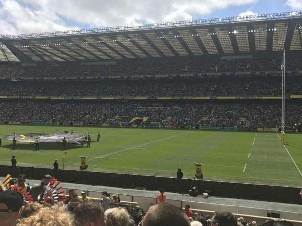 Twickenham Stadium, secção: L22, fila: 21, lugar: 109