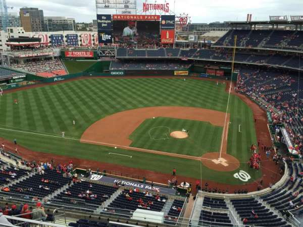 Nationals Park, secção: 409, fila: D, lugar: 3