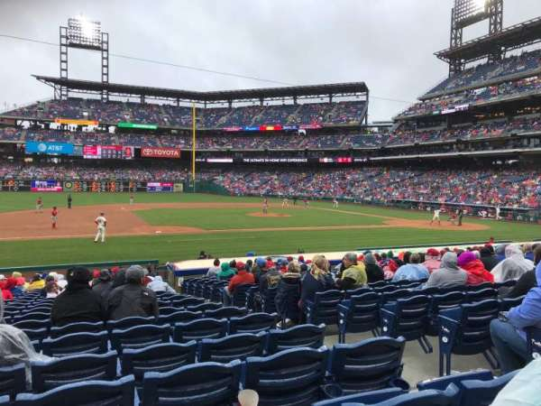 Citizens Bank Park, secção: 132, fila: 18, lugar: 5