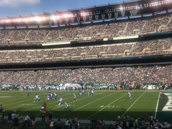 Lincoln Financial Field, secção: 105, fila: 20, lugar: 18