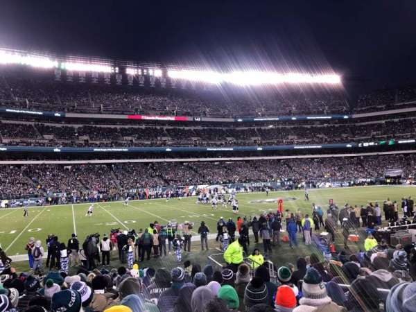 Lincoln Financial Field, secção: 136, fila: 11, lugar: 5