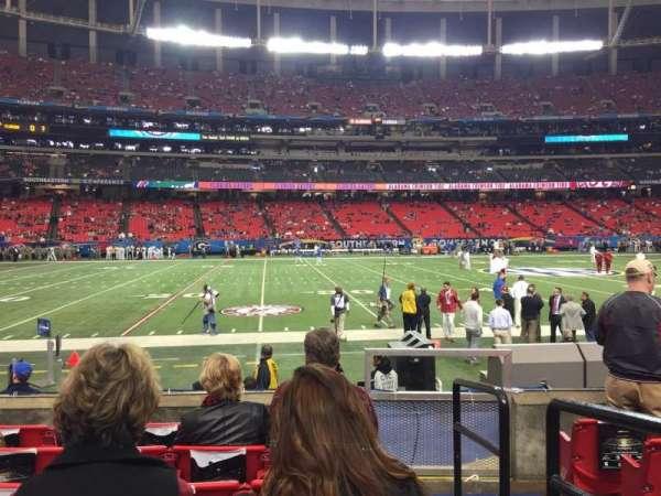Georgia Dome, secção: 138, fila: 6, lugar: 19