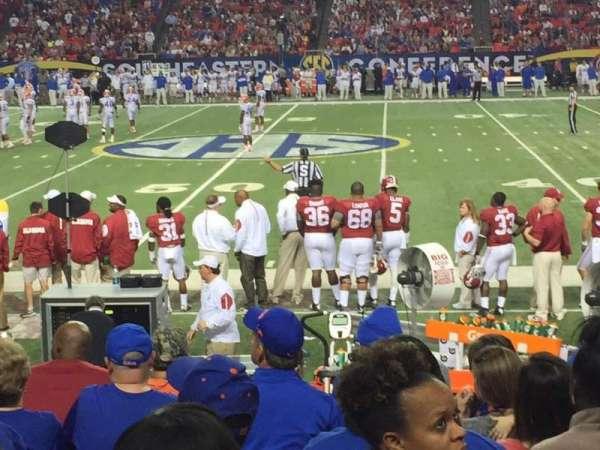 Georgia Dome, secção: 135, fila: 9, lugar: 9