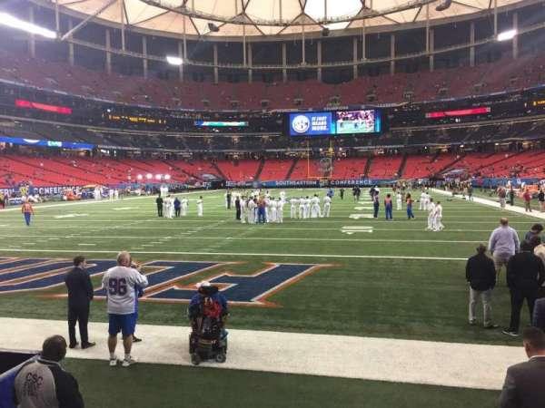 Georgia Dome, secção: 124, fila: 1, lugar: 5
