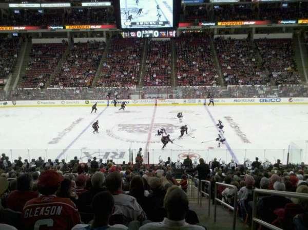 PNC Arena, secção: 104, fila: R, lugar: 1